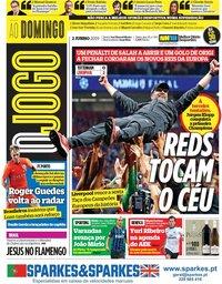 capa Jornal O Jogo de 2 junho 2019