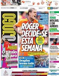 capa Jornal O Jogo de 3 junho 2019