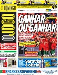 capa Jornal O Jogo de 9 junho 2019