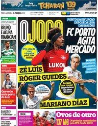 capa Jornal O Jogo de 11 junho 2019