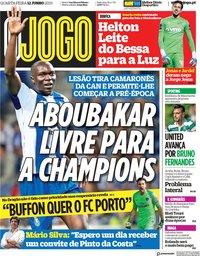 capa Jornal O Jogo de 12 junho 2019