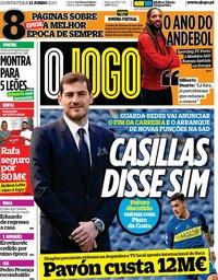 capa Jornal O Jogo de 13 junho 2019