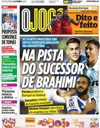 capa Jornal O Jogo de 14 junho 2019