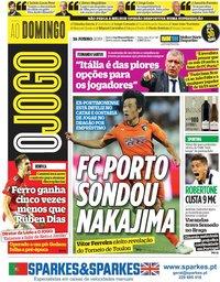 capa Jornal O Jogo de 16 junho 2019