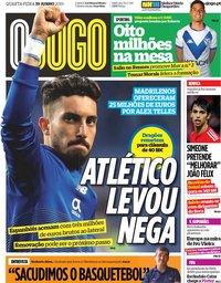 capa Jornal O Jogo de 19 junho 2019