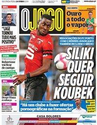 capa Jornal O Jogo de 24 junho 2019