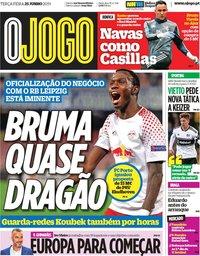 capa Jornal O Jogo de 25 junho 2019