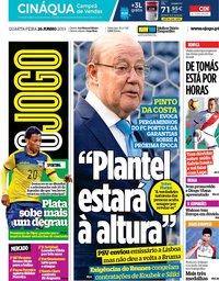 capa Jornal O Jogo de 26 junho 2019