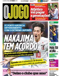 capa Jornal O Jogo de 27 junho 2019