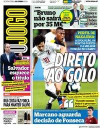 capa Jornal O Jogo de 28 junho 2019