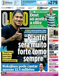 capa Jornal O Jogo de 29 junho 2019