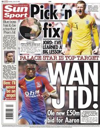 capa Jornal Sun Sport de 11 junho 2019