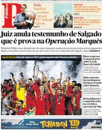 capa Público de 10 junho 2019
