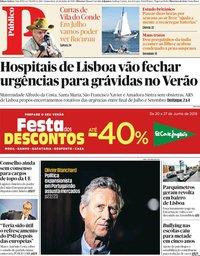 capa Público de 20 junho 2019
