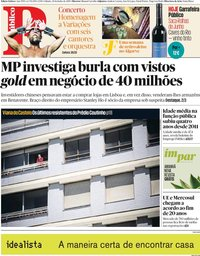 capa Público de 29 junho 2019