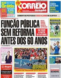 capa Correio da Manhã de 14 julho 2019