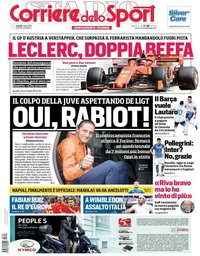 capa Corriere dello Sport de 1 julho 2019