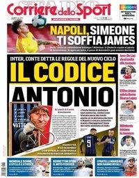 capa Corriere dello Sport de 8 julho 2019
