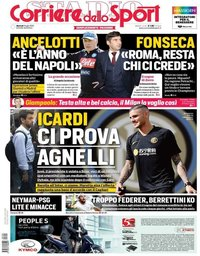 capa Corriere dello Sport de 9 julho 2019