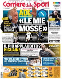 capa Corriere dello Sport de 11 julho 2019