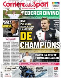 capa Corriere dello Sport de 13 julho 2019