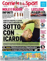 capa Corriere dello Sport de 15 julho 2019
