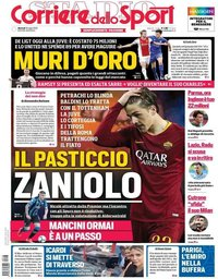 capa Corriere dello Sport de 16 julho 2019