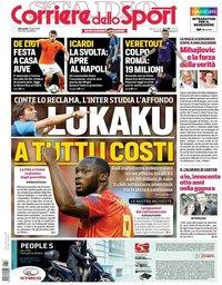 capa Corriere dello Sport de 17 julho 2019