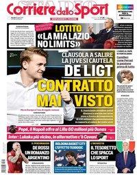 capa Corriere dello Sport de 18 julho 2019