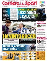 capa Corriere dello Sport de 19 julho 2019
