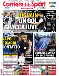 capa Corriere dello Sport de 22 julho 2019