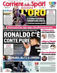 capa Corriere dello Sport de 25 julho 2019