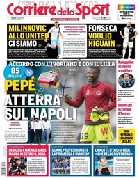 capa Corriere dello Sport de 26 julho 2019