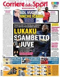 capa Corriere dello Sport de 27 julho 2019