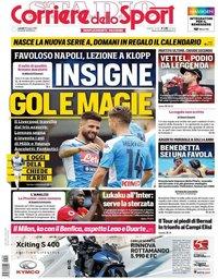 capa Corriere dello Sport de 29 julho 2019