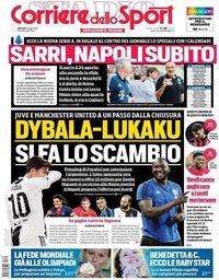 capa Corriere dello Sport de 30 julho 2019