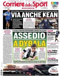 capa Corriere dello Sport de 31 julho 2019