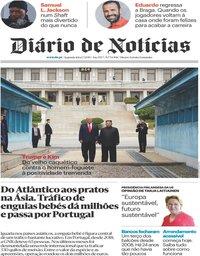 capa Diário de Notícias de 1 julho 2019