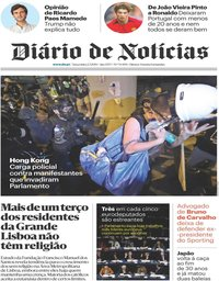 capa Diário de Notícias de 2 julho 2019