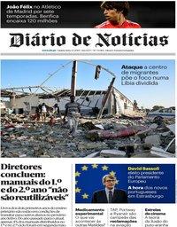 capa Diário de Notícias de 4 julho 2019
