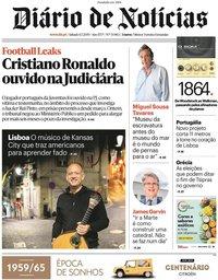 capa Diário de Notícias de 7 julho 2019