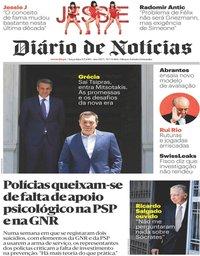 capa Diário de Notícias de 9 julho 2019