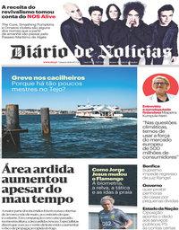 capa Diário de Notícias de 10 julho 2019