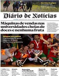 capa Diário de Notícias de 15 julho 2019