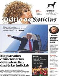 capa Diário de Notícias de 16 julho 2019