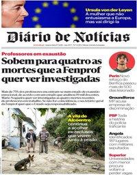 capa Diário de Notícias de 17 julho 2019