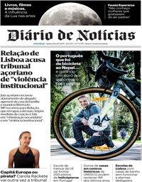 capa Diário de Notícias de 18 julho 2019