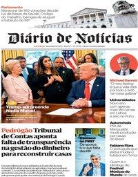 capa Diário de Notícias de 19 julho 2019