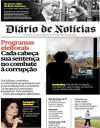 capa Diário de Notícias de 23 julho 2019