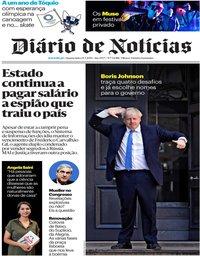 capa Diário de Notícias de 24 julho 2019